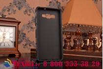 Противоударный усиленный ударопрочный фирменный чехол-бампер-пенал для Samsung Galaxy A5 черный