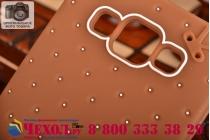 """Фирменная необычная уникальная полимерная мягкая задняя панель-чехол-накладка для Samsung Galaxy A5 """"тематика Андроид в тёмном Шоколаде"""""""