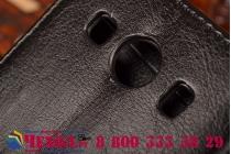 Фирменный чехол-книжка из качественной импортной кожи с мульти-подставкой застёжкой и визитницей для Самсунг Галакси Эйс Стайл ЛТЕ СМ-Г357ФЗ черный