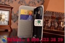 """Фирменный чехол-книжка с визитницой и магнитной застежкой для Samsung Galaxy Ace Style LTE SM-G357FZ  """"тематика Сова"""""""