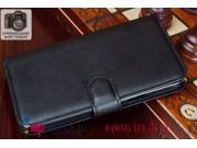 Фирменный чехол-книжка из качественной импортной кожи с подставкой застёжкой и визитницей для Samsung Galaxy G..
