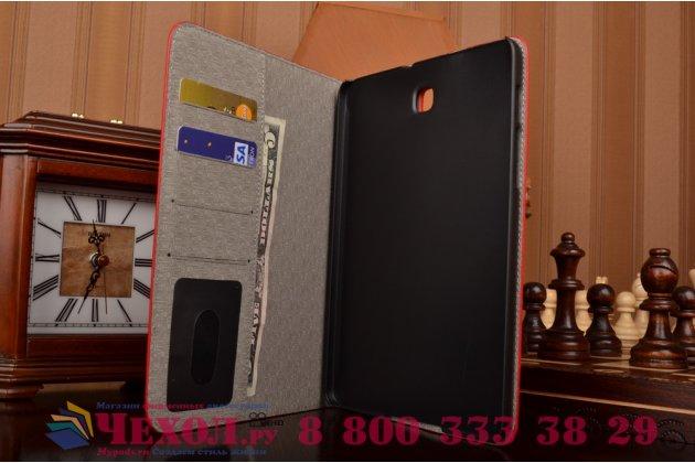 Фирменный чехол для Samsung Galaxy Tab S2 8.0 SM-T710/T715 лаковая кожа крокодила красный
