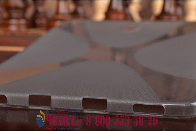 Фирменная ультра-тонкая полимерная из мягкого качественного силикона задняя панель-чехол-накладка для Samsung Galaxy Tab S2 8.0 SM-T710/T715 серая