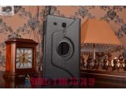 Чехол для планшета Samsung Galaxy Tab E 9.6 SM-T560N/T561N/T565N поворотный роторный оборотный черный кожаный..