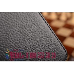 Фирменный чехол-обложка с подставкой для Samsung Galaxy Tab E 9.6 SM-T560N/T561N/T565N черный кожаный