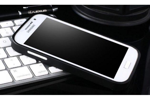 Фирменная металлическая задняя панель-крышка-накладка из тончайшего облегченного авиационного алюминия для Samsung Galaxy Grand Neo GT-I9060/DS черная