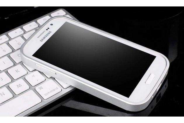Фирменная металлическая задняя панель-крышка-накладка из тончайшего облегченного авиационного алюминия для Samsung Galaxy Grand Neo GT-I9060/DS серебристая