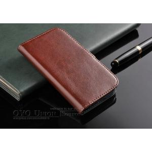 Фирменный чехол-книжка из качественной импортной кожи с мульти-подставкой застёжкой и визитницей для Самсунг Галакси Гелекси Гранд Нео 9060   коричневый