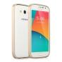 Фирменный оригинальный ультра-тонкий чехол-бампер для Samsung Galaxy Grand Neo GT-I9060/DS золотой металлическ..