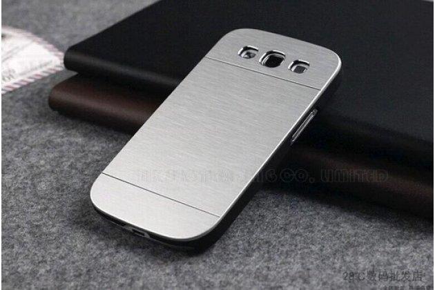 Фирменная металлическая задняя панель-крышка-накладка из тончайшего облегченного авиационного алюминия для Samsung Galaxy Ace Style LTE SM-G357FZ серебристая