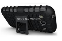 Противоударный усиленный ударопрочный фирменный чехол-бампер-пенал для Samsung Galaxy Ace Style LTE SM-G357FZ синий