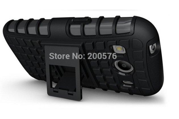 Противоударный усиленный ударопрочный фирменный чехол-бампер-пенал для Samsung Galaxy Ace Style LTE SM-G357FZ зеленый