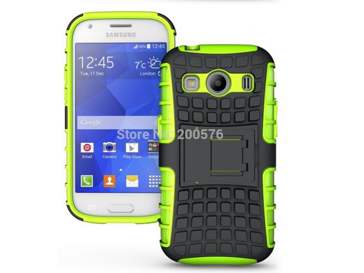Противоударный усиленный ударопрочный фирменный чехол-бампер-пенал для Samsung Galaxy Ace Style LTE SM-G357FZ ..