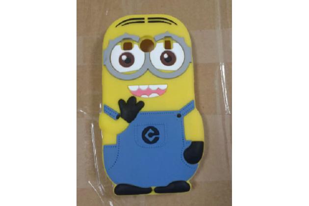 """Фирменная задняя панель-чехол-накладка с объёмным 3D изображением для Samsung Galaxy Ace Style LTE SM-G357FZ """"тематика веселый Миньон"""" желтая"""