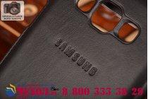 Фирменный оригинальный чехол с логотипом для  Samsung Galaxy E5 S-View Cover черный угольный