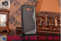 Фирменная ультра-тонкая полимерная из мягкого качественного силикона задняя панель-чехол-накладка для  Samsung Galaxy E5 черная