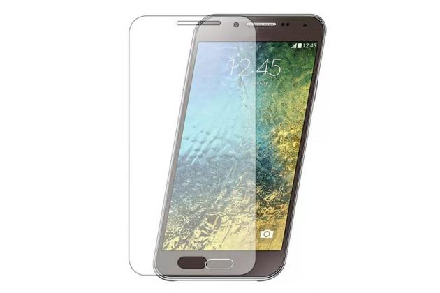 Фирменная оригинальная защитная пленка для телефона Samsung Galaxy E5 глянцевая