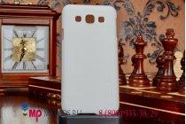 Фирменная задняя панель-крышка из тончайшего и прочного пластика для Samsung Galaxy E5 белая