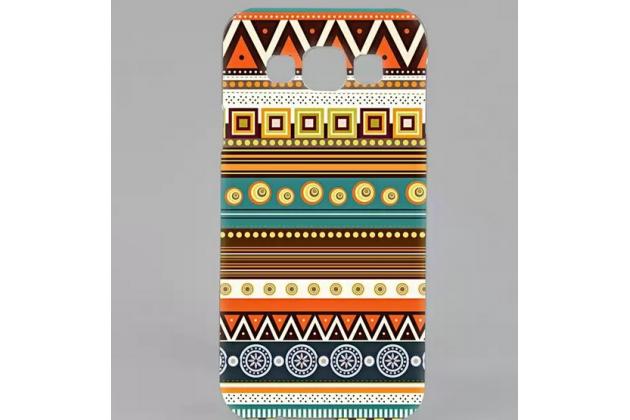 Фирменная роскошная задняя панель-чехол-накладка с безумно красивым расписным эклектичным узором на Samsung Galaxy E5