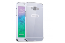 Фирменная металлическая задняя панель-крышка-накладка из тончайшего облегченного авиационного алюминия для Samsung Galaxy E5 серебристая