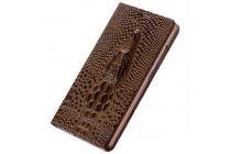"""Фирменный роскошный эксклюзивный чехол с объёмным 3D изображением кожи крокодила коричневый для Samsung Galaxy Note 7 SM-N930F 5.7"""". Количество ограничено"""