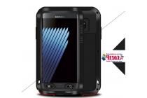 """Неубиваемый водостойкий противоударный водонепроницаемый грязестойкий влагозащитный ударопрочный фирменный чехол-бампер для Samsung Galaxy Note 7 SM-N930F 5.7"""" цельно-металлический со стеклом Gorilla Glass"""