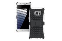 """Противоударный усиленный ударопрочный фирменный чехол-бампер-пенал для Samsung Galaxy Note 7 SM-N930F 5.7"""" белый"""