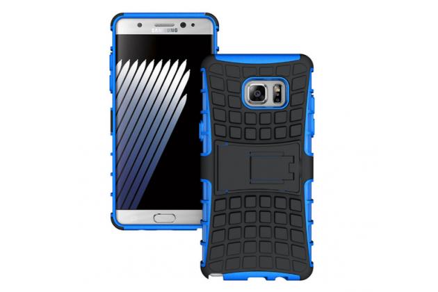 """Противоударный усиленный ударопрочный фирменный чехол-бампер-пенал для Samsung Galaxy Note 7 SM-N930F 5.7"""" синий"""