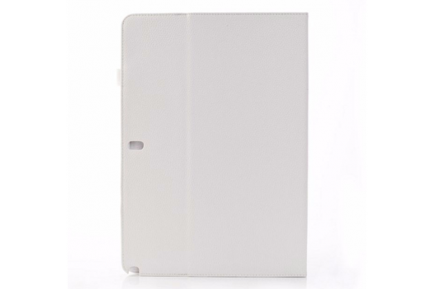 """Фирменный чехол-книжка для Samsung Galaxy Note Pro 12.2 SM-P900/P901/P905 белый натуральная кожа """"Prestige"""" Италия"""