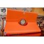 Чехол для Самсунг Галакси Ноте Про 12.2 SM-P900/P901/P905 поворотный роторный оборотный оранжевый кожаный..