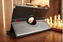 Чехол для Samsung Galaxy Note Pro 12.2 SM-P900/P901/P905 поворотный черный кожаный