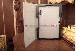 """Фирменный чехол обложка для Samsung Galaxy Tab Pro 12.2 SM-T900/T905 с визитницей и держателем для руки черный натуральная кожа """"Prestige"""" Италия"""