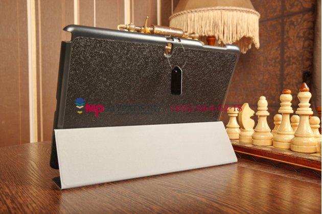 """Фирменный умный чехол самый тонкий в мире для Samsung Galaxy Note Pro 12.2 SM-P9000/P9010/P9050 """"Il Sottile"""" черный пластиковый Италия"""