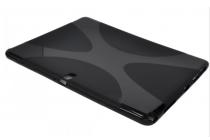 Фирменная ультра-тонкая полимерная из мягкого качественного силикона задняя панель-чехол-накладка для планшета Samsung Galaxy Note Pro 12.2 SM-P900/P901/P905  черная