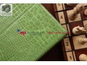 Фирменный чехол для Samsung Galaxy Note Pro 12.2 SM-P9000/P9010/P9050 кожа крокодила зеленый..