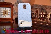 """Фирменная необычная уникальная полимерная мягкая задняя панель-чехол-накладка для Samsung Galaxy S5 SM-G900H/G900F """"тематика Андроид в черничном шоколаде"""""""