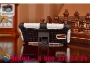 Противоударный усиленный ударопрочный фирменный чехол-бампер-пенал для Galaxy S5 SM-G900H/G900F белый..