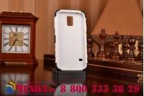 Противоударный усиленный ударопрочный фирменный чехол-бампер-пенал для Galaxy S5 SM-G900H/G900F белый
