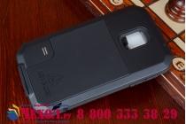 Неубиваемый водостойкий противоударный водонепроницаемый грязестойкий влагозащитный ударопрочный фирменный чехол-бампер для Samsung Galaxy S5 SM-G900H/G900F цельно-металлический со стеклом Gorilla Glass