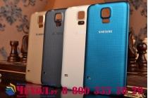 Родная оригинальная задняя крышка-панель которая шла в комплекте для Samsung Galaxy S5 SM-G900H/G900F черная