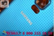 Родная оригинальная задняя крышка-панель которая шла в комплекте для Samsung Galaxy S5 SM-G900H/G900F синяя