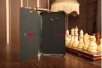 """Чехол с логотипом для Samsung Galaxy Tab 3 Lite 7.0 SM-T110/T111/T113 с дизайном """"Book Cover"""" черный"""