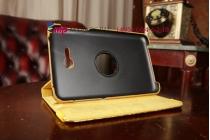 Эксклюзивный фирменный чехол для Samsung Galaxy Tab 3 Lite 7.0 SM-T110/T111 кожа крокодила золотой. Только у нас. Количество ограничено.