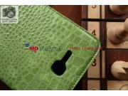 Лаковая блестящая кожа под крокодила чехол для Samsung Galaxy Tab 3 Lite 7.0 SM-T110/T111 зеленый..
