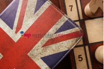 """Фирменный чехол для Samsung Galaxy Tab 3 Lite 7.0 SM-T111 """"тематика ретро Британский флаг"""""""