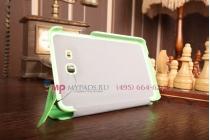 """Фирменный умный чехол самый тонкий в мире для Samsung Galaxy Tab 3 Lite 7.0 SM-T110/T111  """"Il Sottile"""" зеленый пластиковый Италия"""
