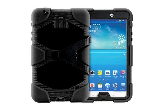 Противоударный усиленный ударопрочный фирменный чехол-бампер-пенал для Samsung Galaxy Tab 4 8.0 SM-T330/T331/T335 черный
