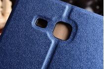 """Фирменный чехол-обложка с мультиподставкой для Samsung Galaxy Tab A 2016 7.0 SM-T285/ T280 / T280N / T288 / T285C"""" синий из водоотталкивающей кожи"""