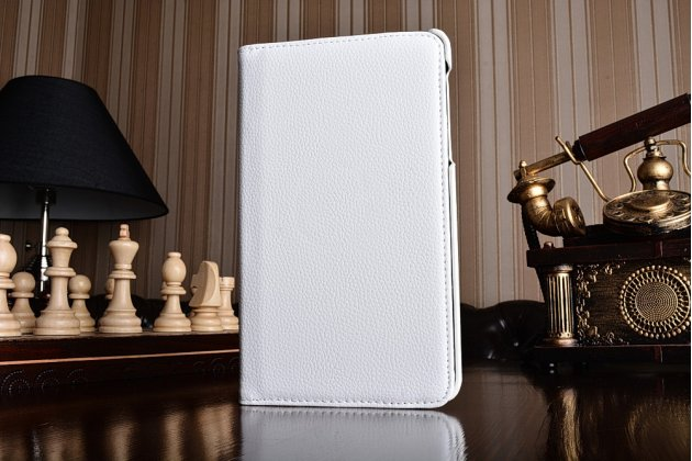 """Чехол для планшета Samsung Galaxy Tab A 2016 7.0 SM-T285/ T280 / T280N / T288 / T285C"""" поворотный роторный оборотный белый кожаный"""
