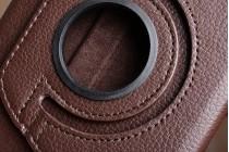 """Чехол для планшета Samsung Galaxy Tab A 2016 7.0 SM-T285/ T280 / T280N / T288 / T285C"""" поворотный роторный оборотный коричневый кожаный"""